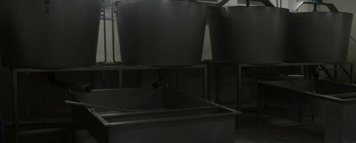Maquinaria para la primera fase de la Mozzarella